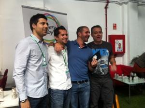 Víctor Martín, Carlos Bravo, Amel Fernández y Paco Viudes
