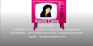 Sonia Caño  Socabu  en Twitter